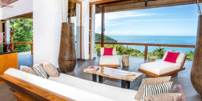 Dramatic ocean views from the living room
