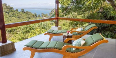 Nap time on our famous Balinese 'snake' lounge chairs